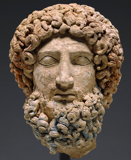 Head of Hades, about 400-300 BC.