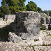 Temple of Zeus partially reconstructed