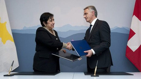 Cypriot Minister of Foreign Affairs Erato Kozakou-Marcoullis and her Swiss counterpart Didier Burkhalter signed a bilateral agreement on the protection of cultural goods.