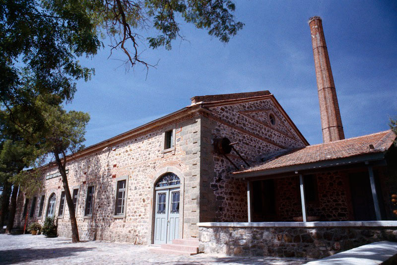 The Museum of Industrial Olive Oil Production on the island of Lesvos.