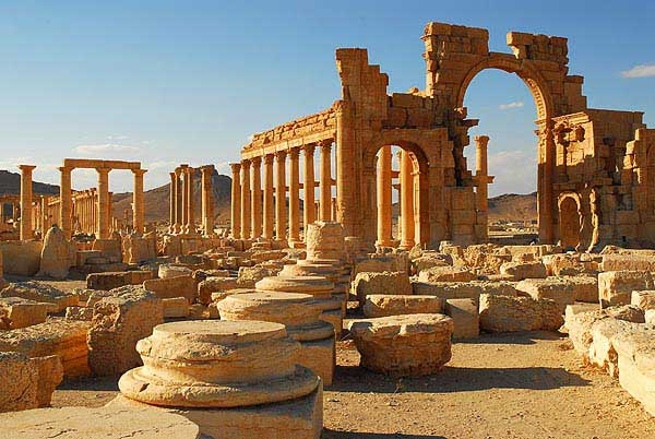 Palmyra is one of the six World Heritage Sites in Syria.