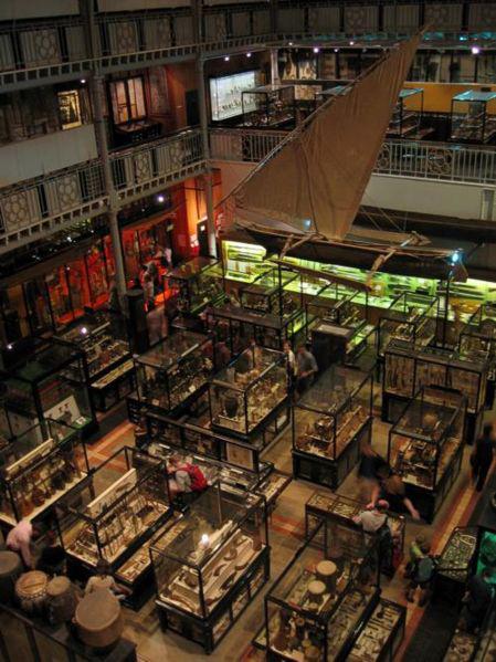 Pitt Rivers Museum, interior.