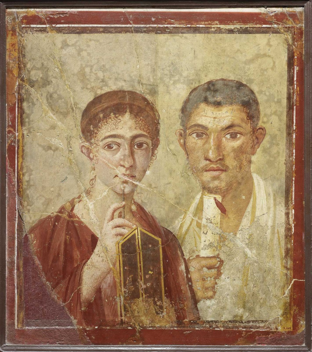 Wall painting of the baker Terentius Neo and his wife. From the House of Terentius Neo, Pompeii. AD 50-79. Copyright Soprintendenza Speciale per i Beni Archeologici di Napoli e Pompei/Trustees of the British Museum.
