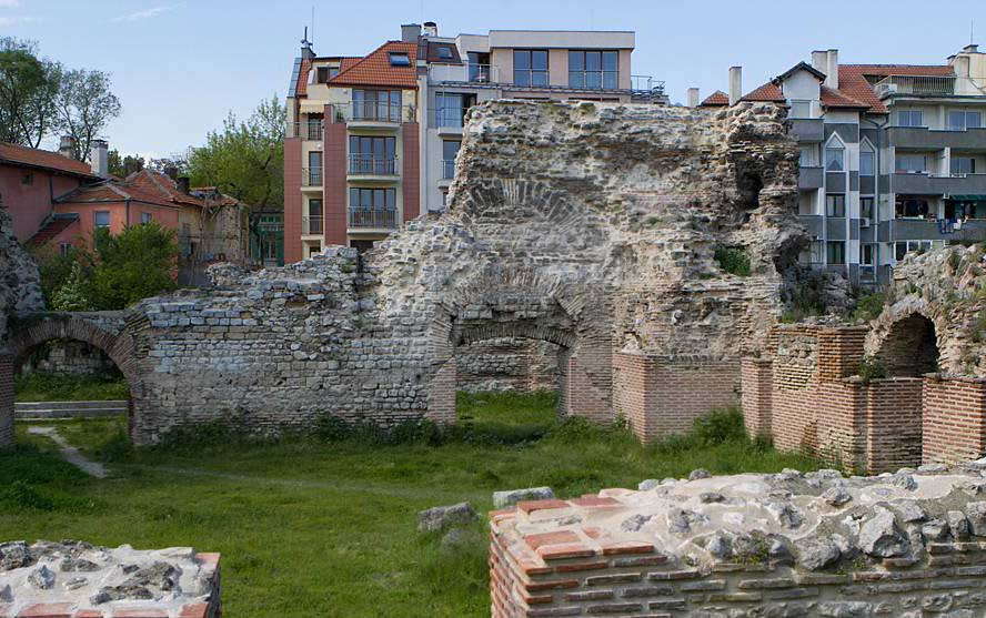 The Roman baths in Varna.