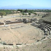 Works at the ancient theatre of Sicyon