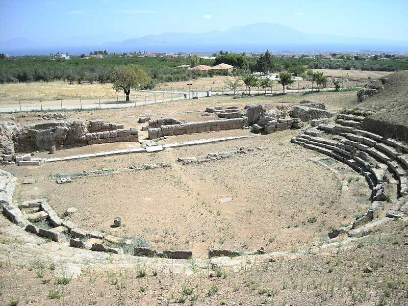 The ancient theatre of Sicyon.