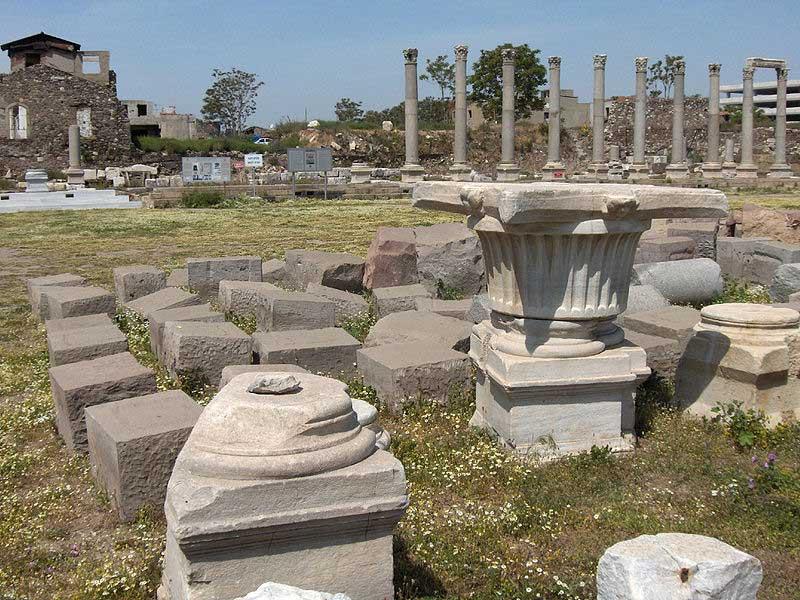The Agora of Smyrna (columns of the western stoa).