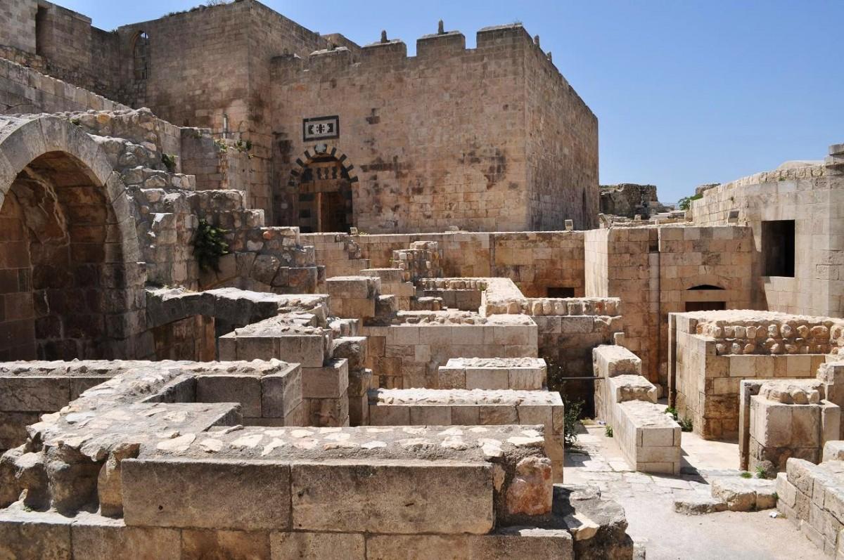 The Citadel of Aleppo in Syria.