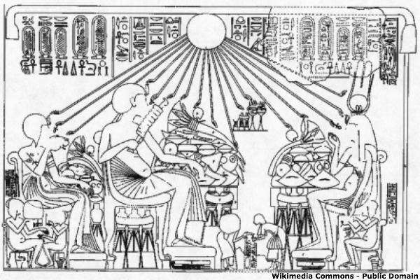 A royal banquet scene from Tell el-Amarna.