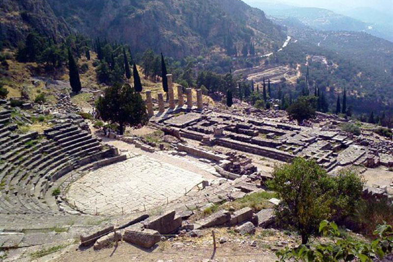 Delphi, ancient theater.