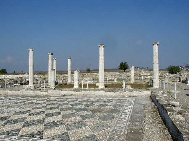 Pella, the archaeological site.