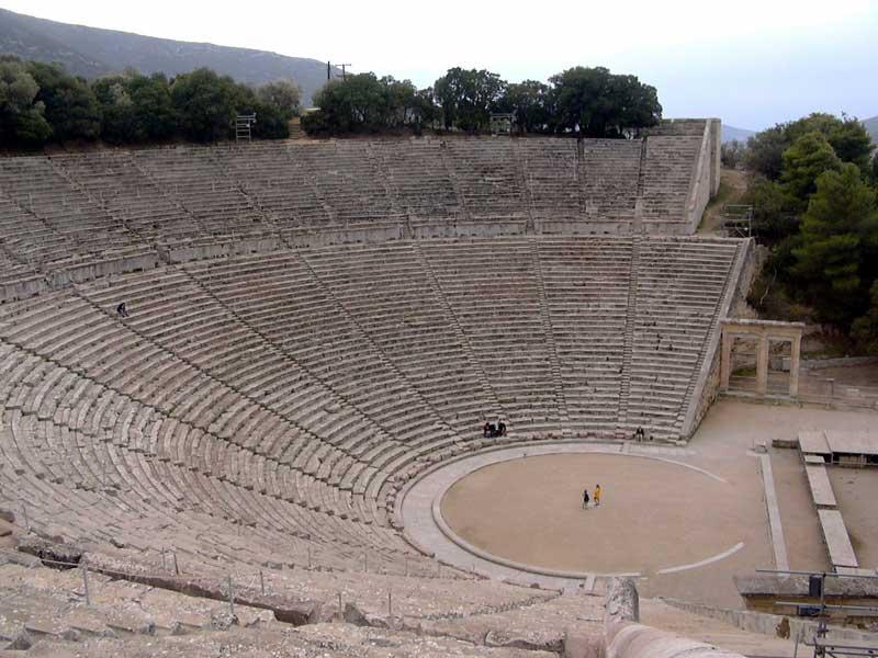 The theatre of Epidaurus.