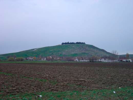 View of the archaeological site at Kierion.