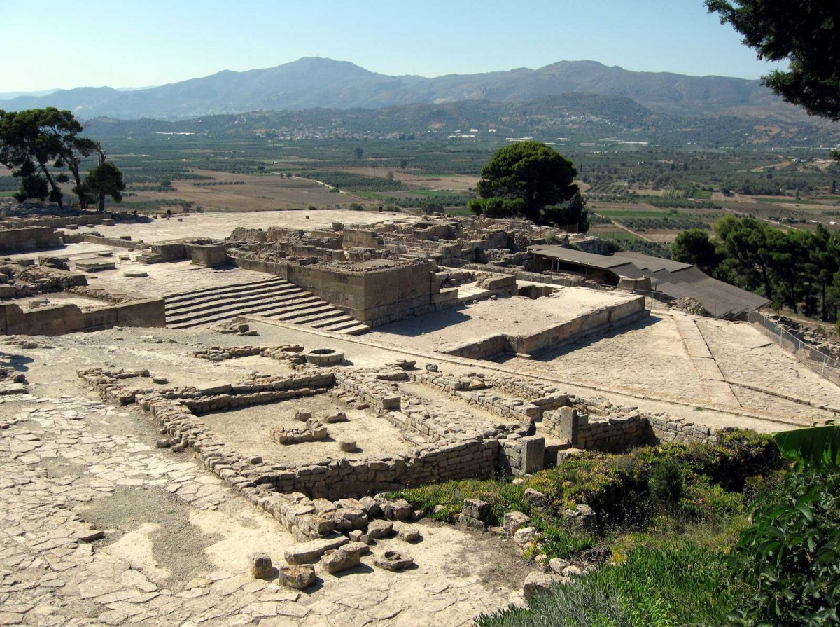 The archaeological site of Phaistos.