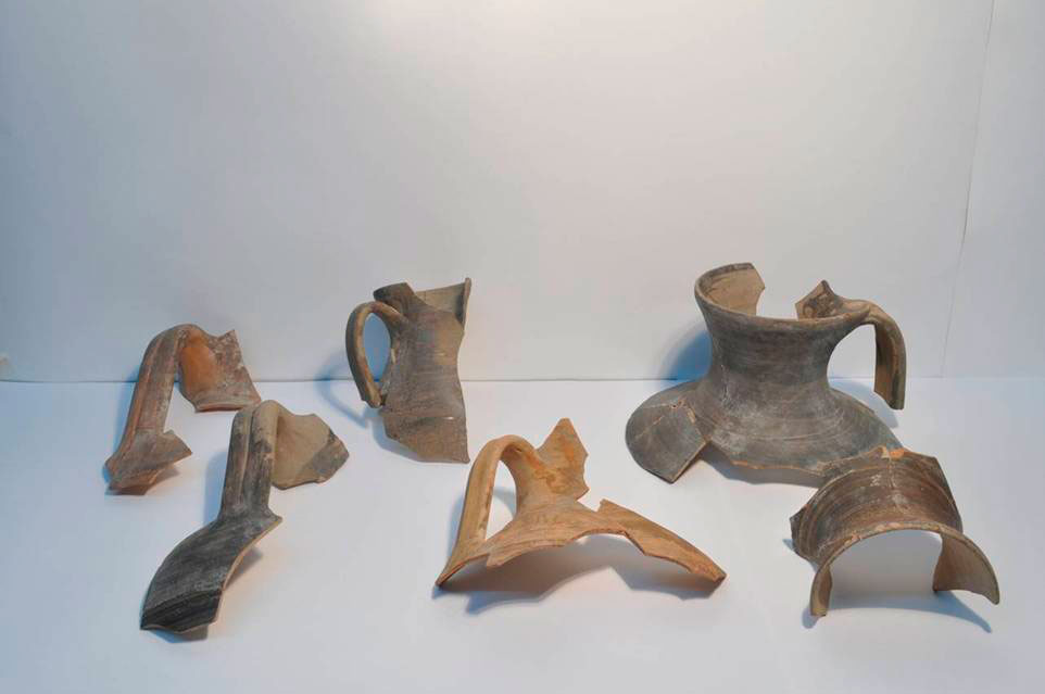 Fragments of local oinochoe, found during the excavations at Karabournaki.
