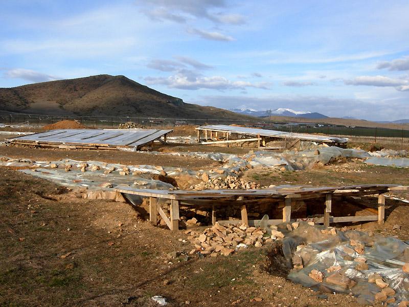 The archaeological site of Paravela, at Argos Orestikon (Macedonia).