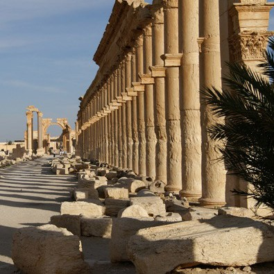 Colonnade in Palmyra.