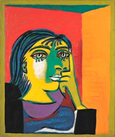 Portrait of Dora Maar,1937. Oil on canvas. Musée Picasso, Paris.