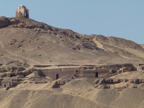 Rock-cut tombs at Qubbet el-Hawa.