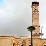 The minaret of the Umayyad Mosque has been destroyed