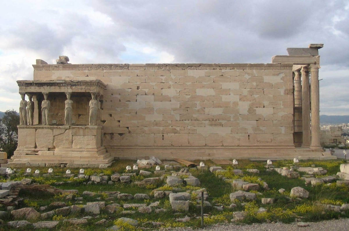 The Erechteion after its restoration. View from the south.