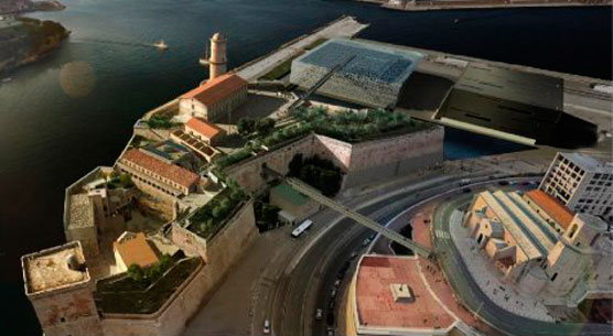 View of the Museum of Civilisations from Europe and the Mediterranean  (photo: MuCEM / Agence aps © golem).