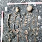 Skeletons holding hands unearthed in Romania