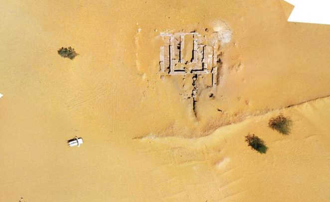 Palace remains at Sonijat as seen through satellite imaging.
