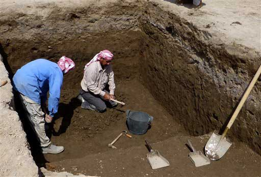 This photo taken on March 31 shows excavation in progress at Tell Khaiber, Iraq. Credit: Stuart Campbell.