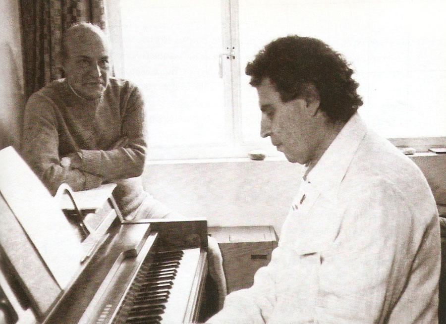 Mikis Theodorakis and Odysseas Elytis.