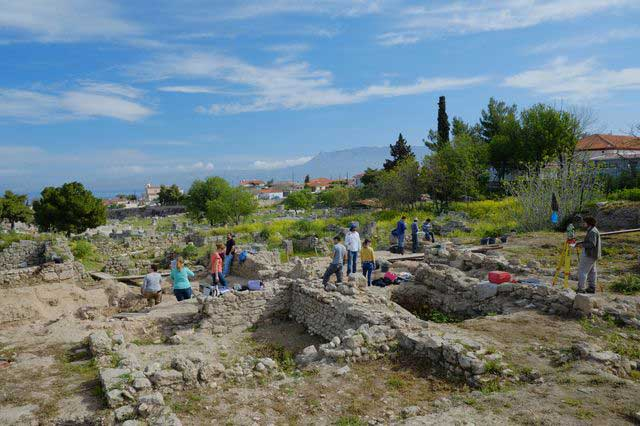 Corinth excavations utilizes an open area, single context system without baulks. (photo credit: ASCSA)
