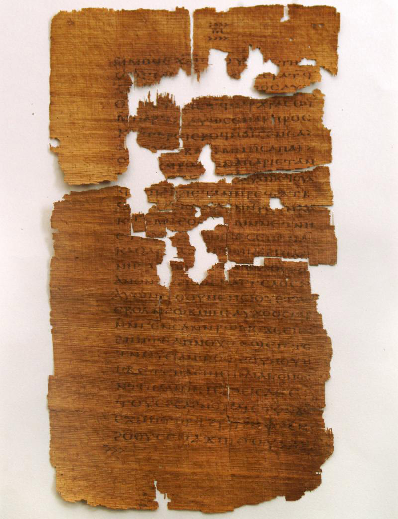 A page from the Gospel of Judas.