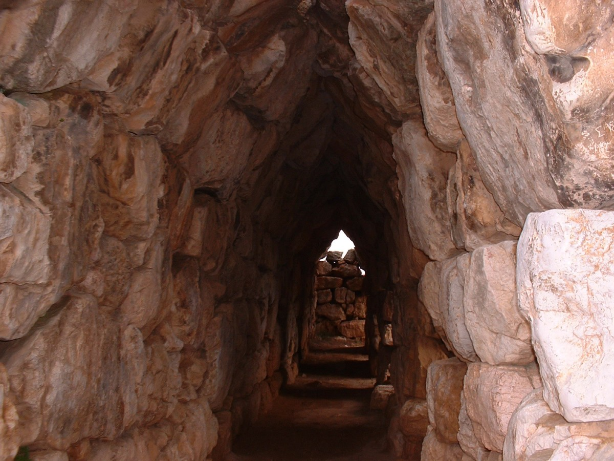 Galleries in the walls of Tiryns.