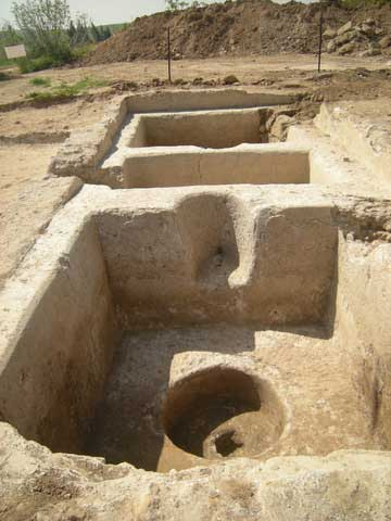 Part of an extensive wine-press unearthed at the site (photo credit: Courtesy of the Israel Antiquities Authority).