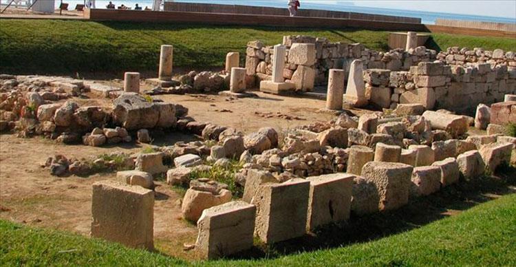 The temple of Apollo Zoster in Vouliagmeni (Attica).