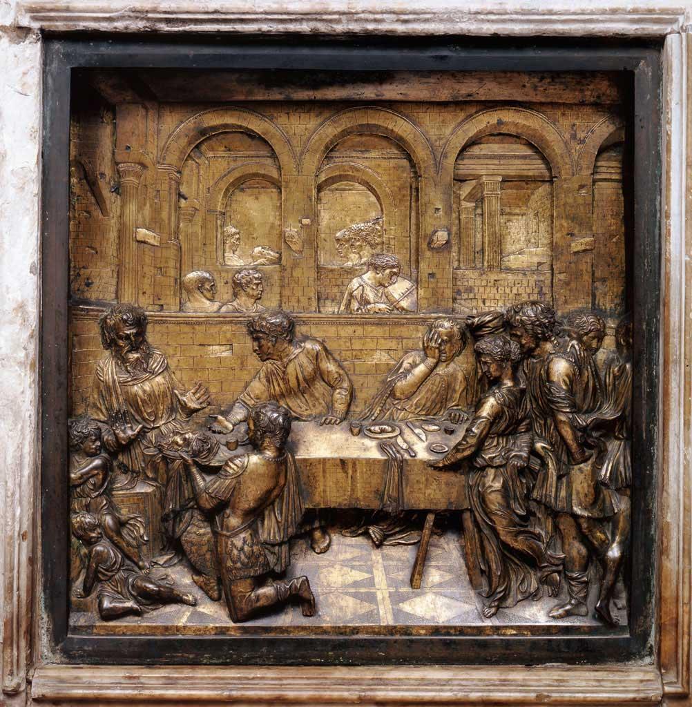 Donatello. Herod's Banquet. 1427.