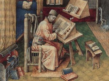 Medieval scribe.