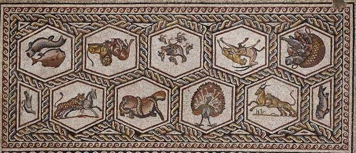 The Lod mosaic (c. AD 300).