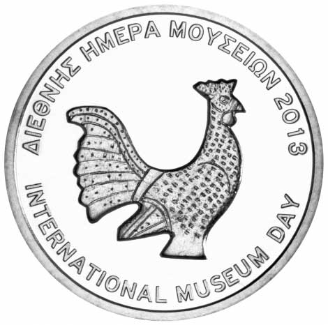 Commemorative medal produced by the Bank of Greece – Mint on the occasion of International Museum Day 2013. Copyright Acropolis Museum.