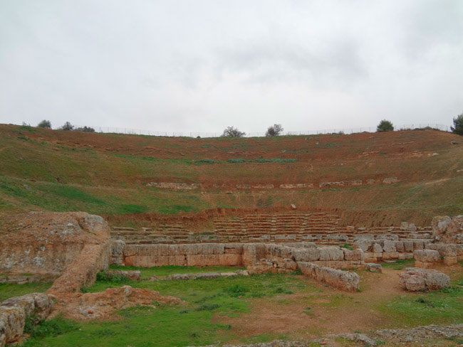The ancient theatre of Sikyon.