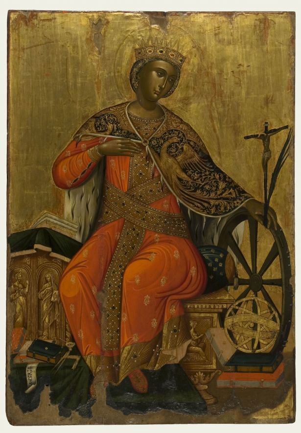 Victor, Saint Catherine. 2nd half of the 17th century. From Messina. Athens, Byzantine and Christian Museum, BXM 1568. Photo: Véronique Magnes (2012).