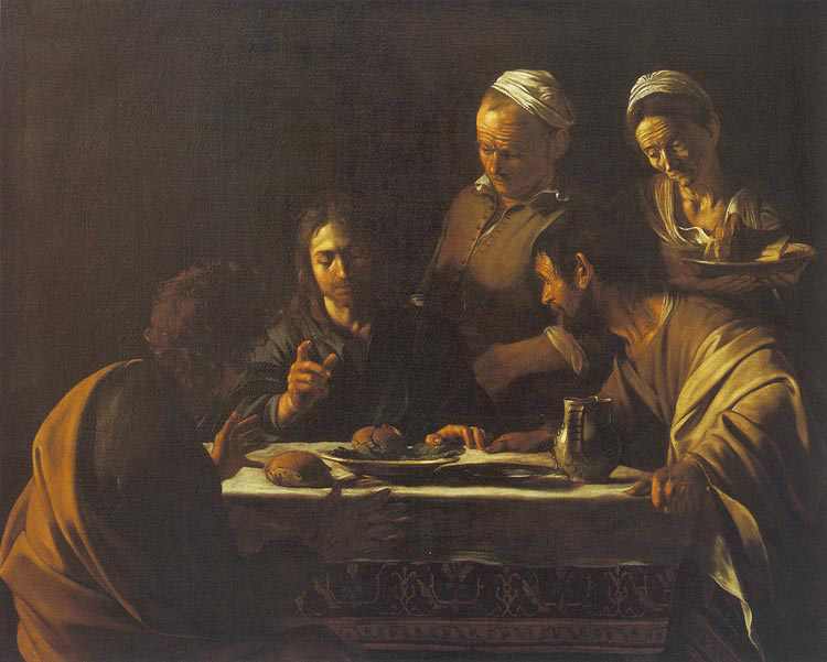 The Supper at Emmaus. Caravaggio (1606).