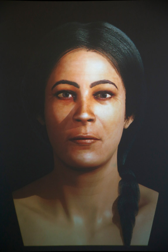 Facial reconstruction based on a scull from Xagħra Stone Circle, Gozo. Malta, c.3000 BC.