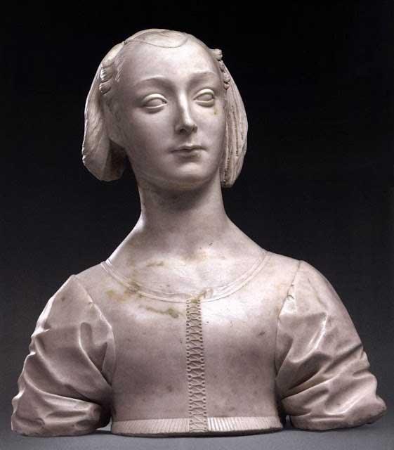 Bust of Marietta Strozzi. Desiderio da Settignano. c.1464.