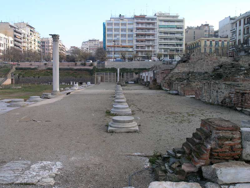View of the Ancient Agora in Thessaloniki.
