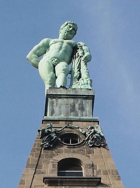 The Hercules monument in Bergpark Wilhelmshöhe in Kassel.