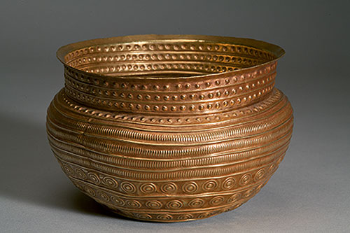 Golden bowl. One of the items, which were obtained in the result of the Second World War Treasure of Eberswalde. Pushkin Museum of Fine Arts.