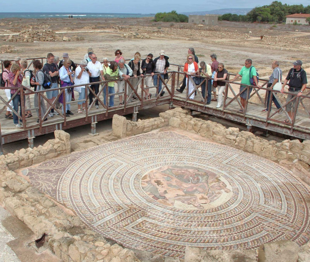 Mosaic at the Archaeological Park of Paphos.