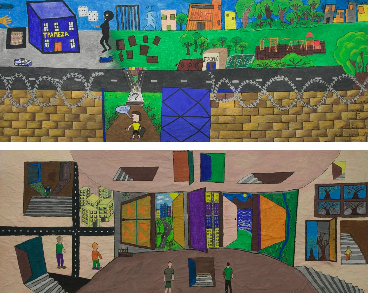 The two works of the pupils at the Juvenile Prison of Avlona.