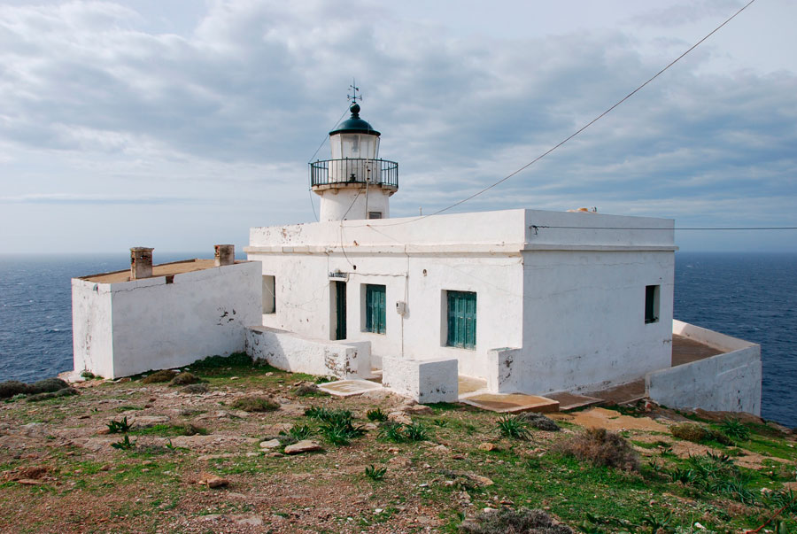 Lighthouse in Tamelos Cape (Kea).